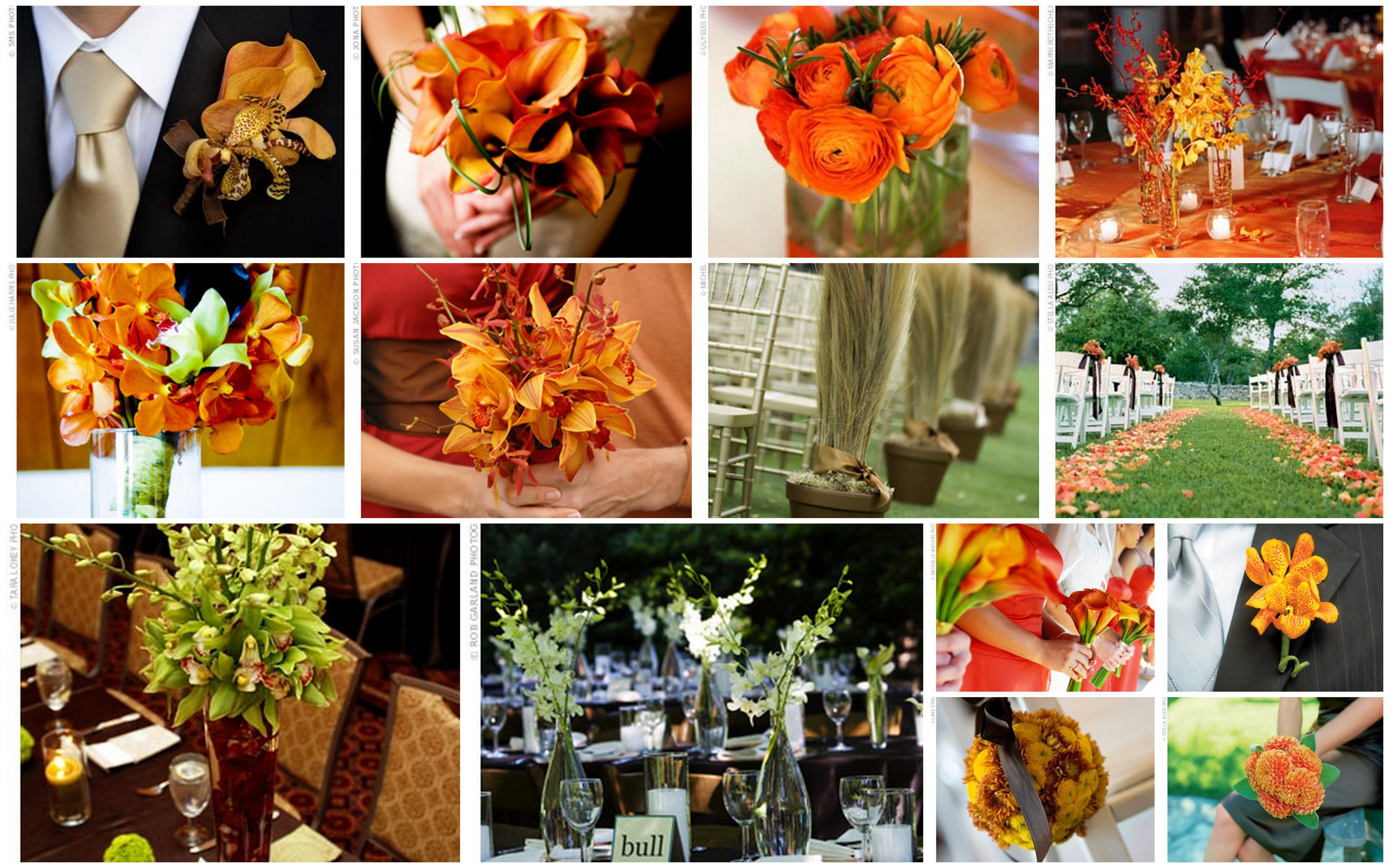 Orange Green Wedding Flowers Does The Dress Fit