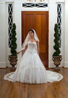 emerald bridal wedding dress