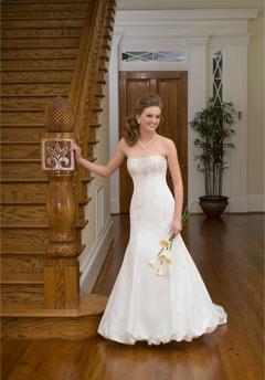 emerald  bridal wedding dress